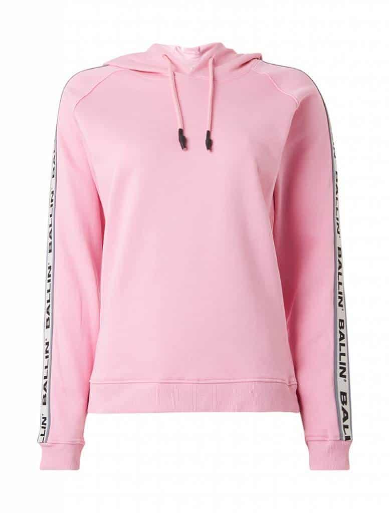 d624fbd2e88 ballin-amsterdam-dames-tape-hoodie-roze - Shopdistrict Boutique