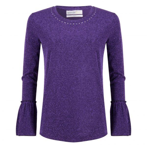 Carter Tee – Purple Glitter