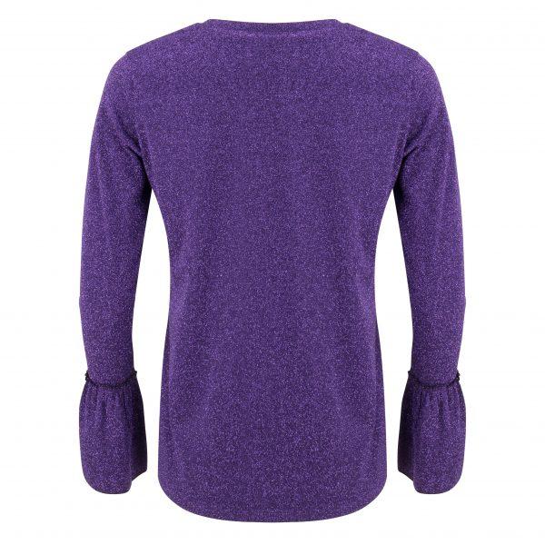 Carter Tee – Purple Glitter Back