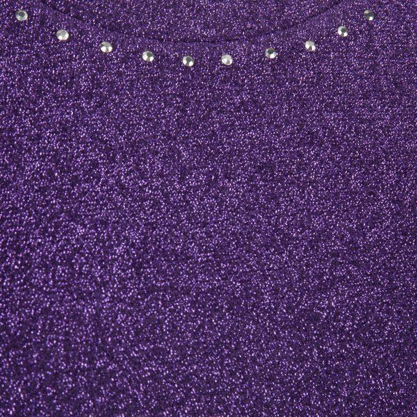 Carter Tee – Purple Glitter Detail