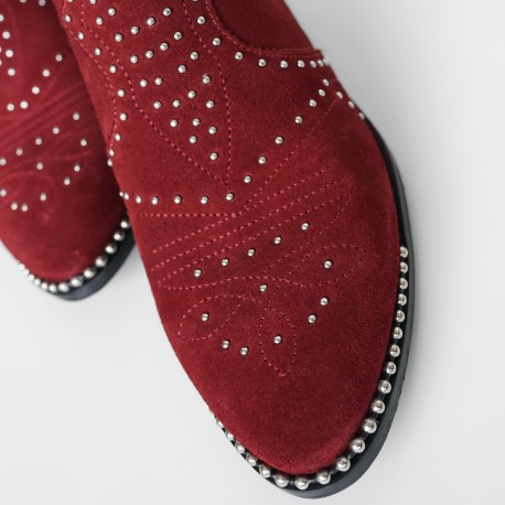 bronx-99red-leather-ankle-boot