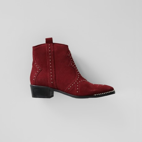 bronx-red-leather-ankle-boot