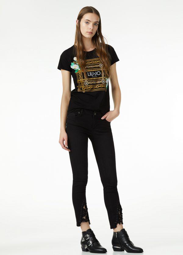 liujo-blackshine-zwart-black-tshirt