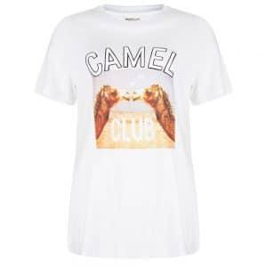 Wanderlust Camel Tee-White