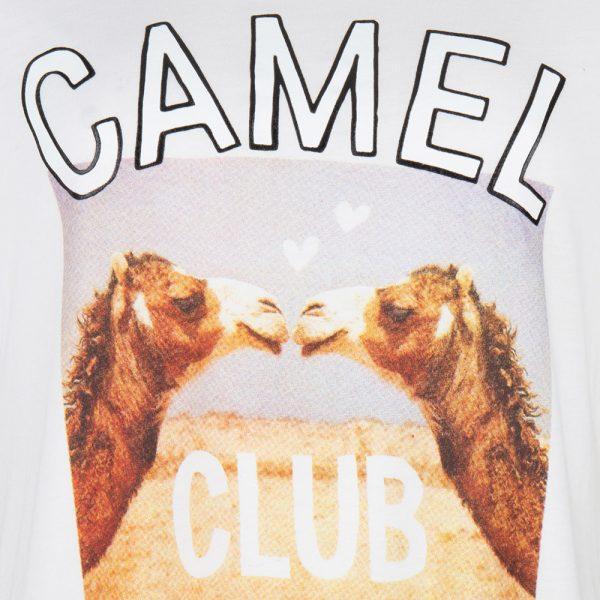 Wanderlust Camel Tee-White Detail