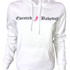 twistedbabydoll_hoody_logo_wht